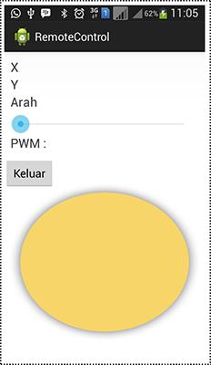 Antarmuka Sistem Kendali Mobile Remote berbasis Android