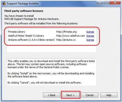 Matlab Support Package Installer Third-Party