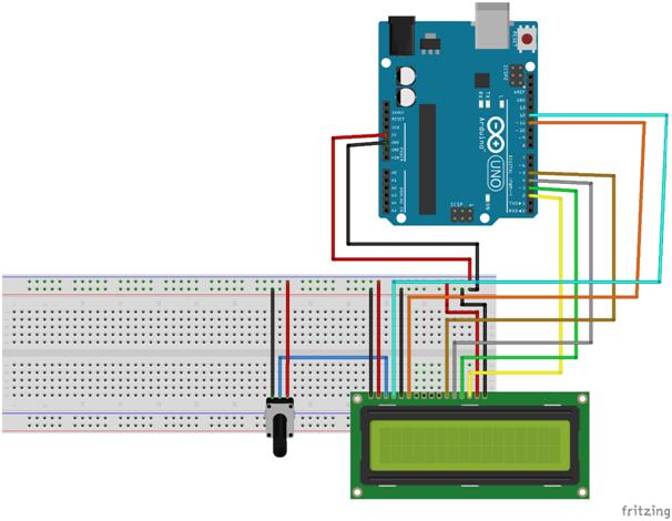 Pemasangan LCD pada Breadboard dan Arduino