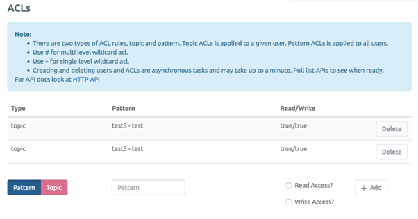 CloudMQTT Users and ACL