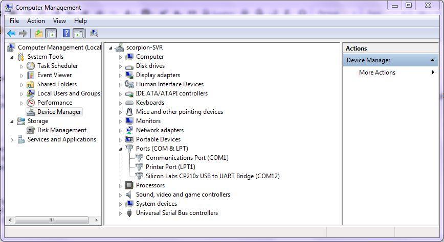 Device Manager - Arduino COM Port