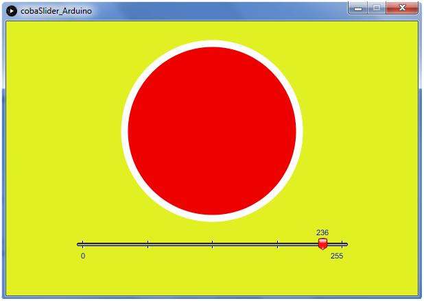 GUI LED Arduino - Processing