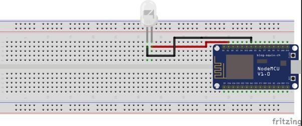 Rangkaian Lampu LED ESP8266 NodeMCU