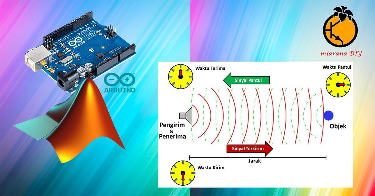 sensor jarak arduino matlab