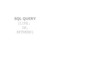 Cover Operator SQL SERVE