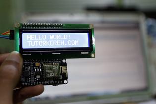LCD I2C Dua Kabel - NodeMCU