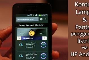 Menyalakan Lampu & Hitung Penggunaan Listrik dengan Android dan WiFi