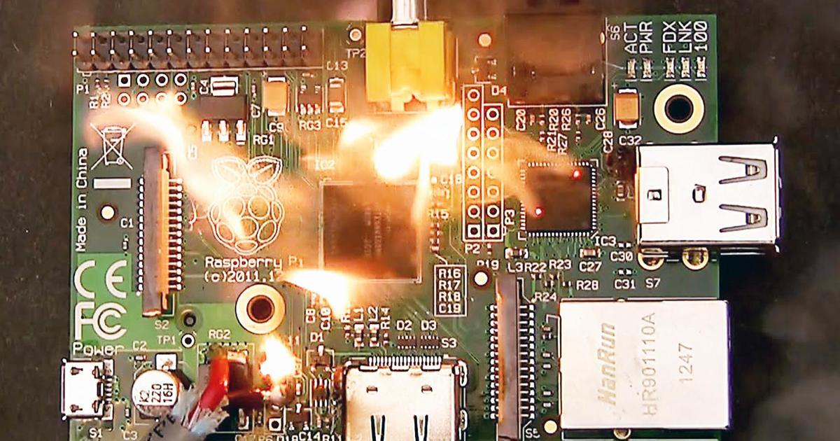 Raspberry Pi Terbakar