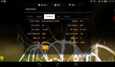 Gambar 4.17 Menu Statistik Jaringan