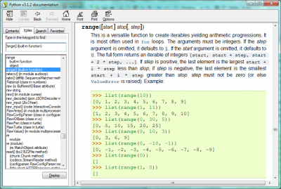 Bantuan Fungsi Range pada Python