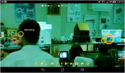 Gambar 4.10 Fungsi Kontrol Multi-touch pada Antarmuka Govinda Rover
