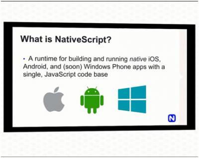Deskripsi singkat dari NativeScript.