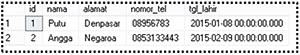 7. Operator BETWEEN mencari data dengan tanggal antara bulan januari dan februari