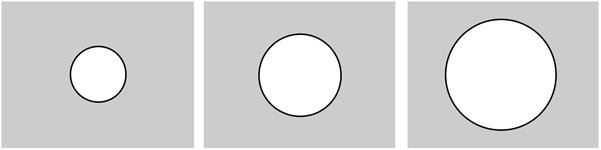 Processing Animasi lingkaran berdasarkan perbedaan diameter