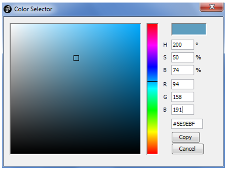 Processing Color Selector