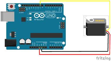 Rangkaian Arduino Motor Servo