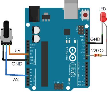 Matlab-Arduino Potensio dan LED