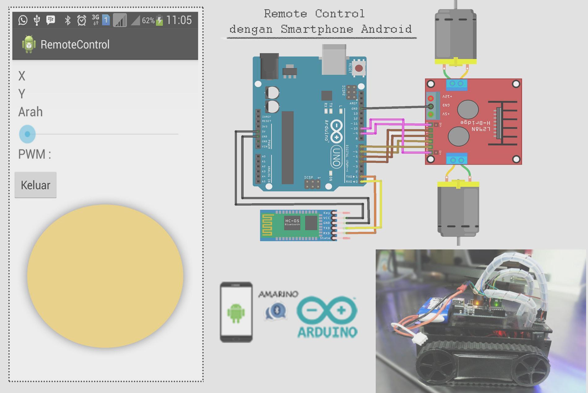 Tutorial Membuat Remote Control Rc Dengan Kendali Smartphone Android Narin Laboratory