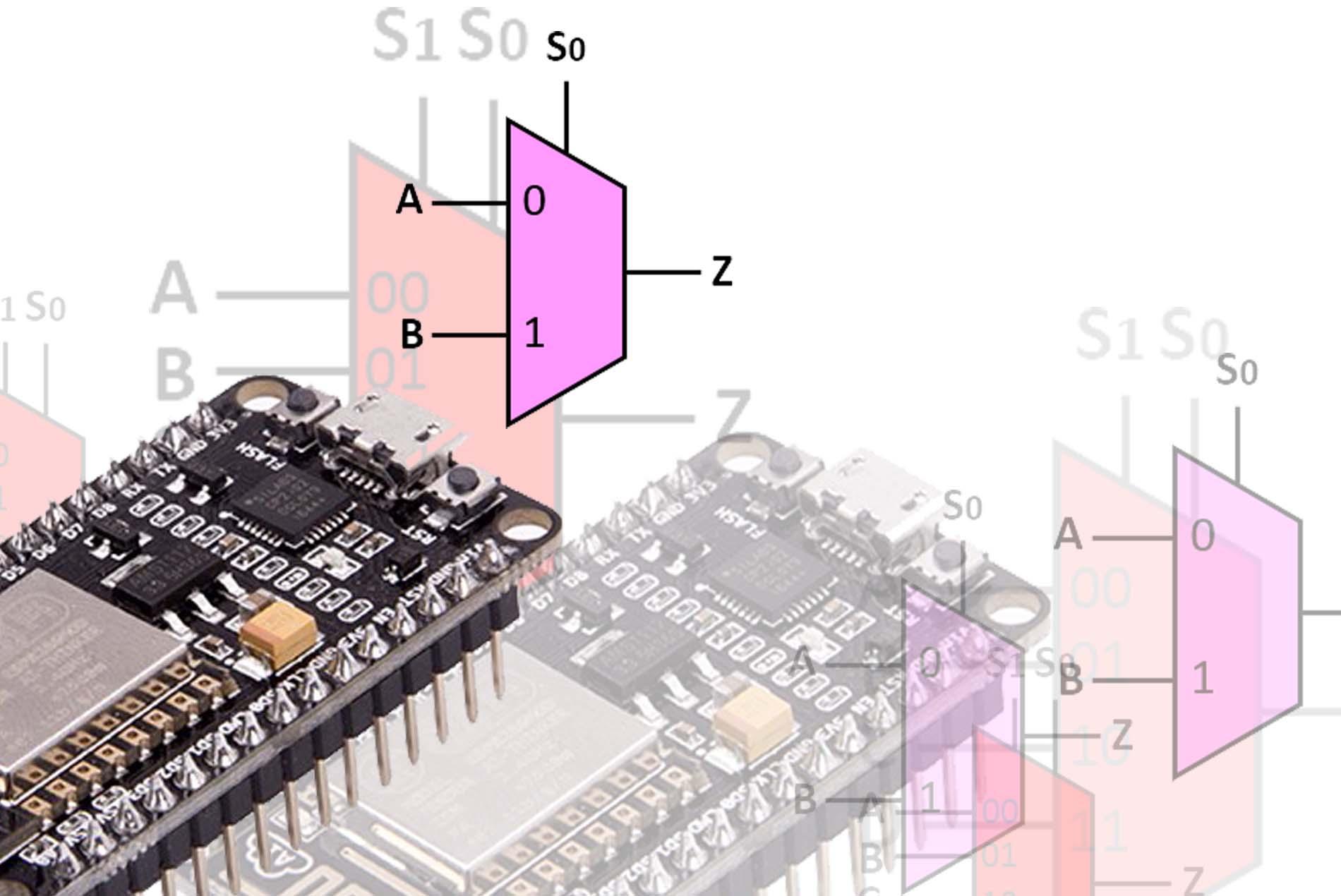 TUTORIAL] Menggunakan Multiplekser pada ESP8266 (NodeMCU) | Narin