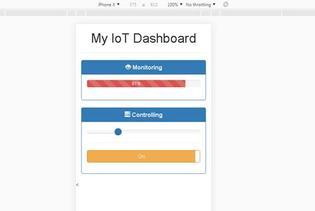 Tampilan Web Interface untuk Kontrol & Monitoring