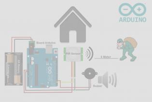 Cover Rangkaian Skematik alarm maling dengan arduino