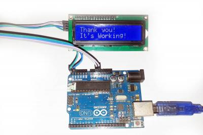 Arduino 2 Pin LCD with I2C Adapter