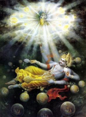 Bubbles of Material Universes - Maha Visnu