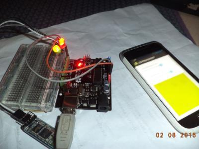 contoh kontrol lampu dengan android