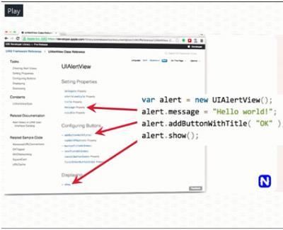Dokumentasi API dari NativeScript bisa dibaca langsung dari dokumentasi API Native.