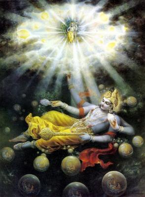 """""""Penciptaan material ini merupakan mimpi dari roh spirit, semua eksistensi di dunia ini adalah mimpi dari Maha-Wisnu"""" [Srimad Bhagavatam 4.29.83]."""