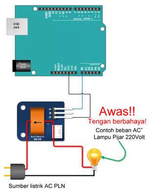 Pengkabelan Sensor Arus TA12-100