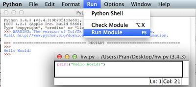 Python IDE Run