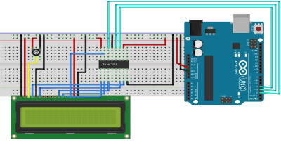 rangkaian LCD 3wire Arduino