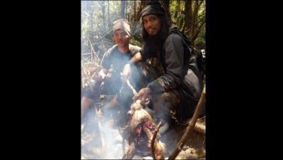 Teroris Santoso dan anak buah memakan anoa